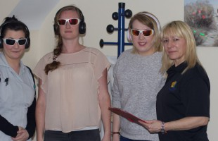(From left to right) Participants Rachel Hough Michelle Smith Hannah Panter and trainer Alison Clarke