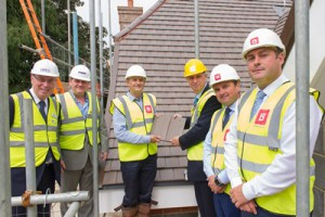 Justin Daley Frank Wright Mike Parish Cllr Andrew Eyre Paul Dixon MD Lawrence Baker and Luke Hollick low res