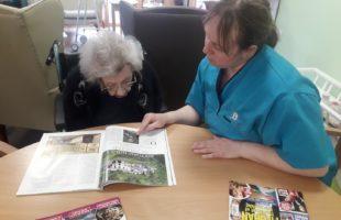 Balhousie Willowbank Resident Jean Mathieson and carer Karen Gerrie | Care Home News
