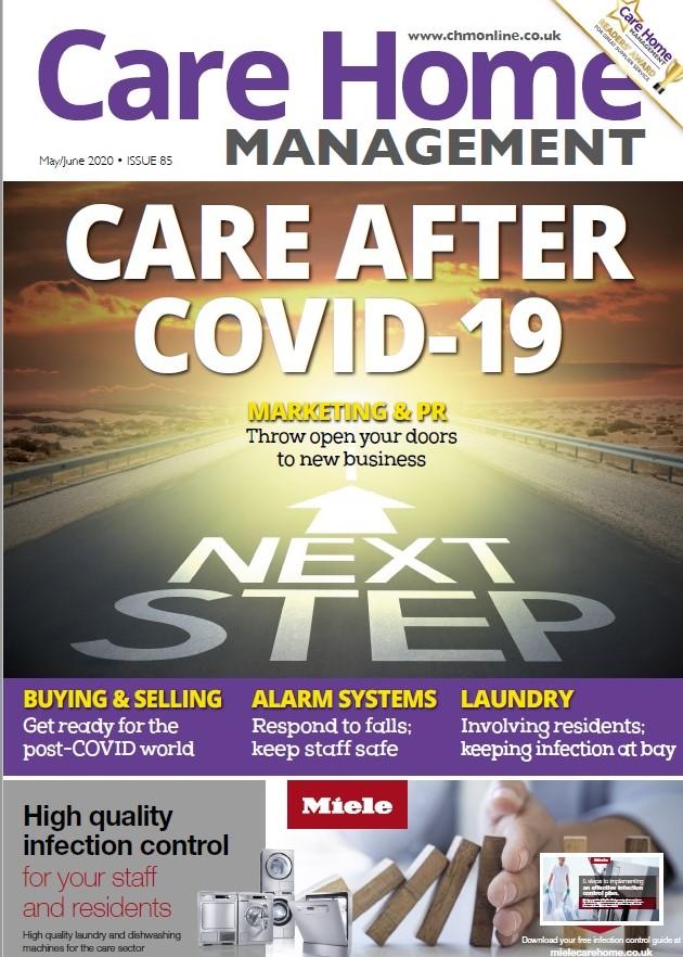 Care Home Management Magazine cover screenshot | Care Home Supplier News