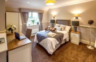 A care home bedroom from DWA Arctitechs | Professional Care Home Advice