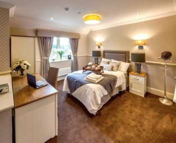 A care home bedroom from DWA Arctitechs   Professional Care Home Advice