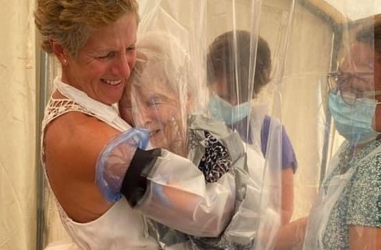 Cuddle Curtain at care home