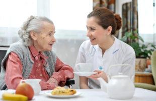 Care home staff and resident tea | Nursing Home News