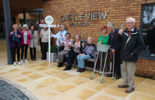 Residents and staff at Castle View Windsorwho walked or ran the John o' Groats to Lands end virtual walk