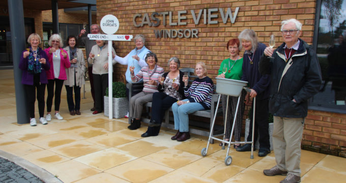 Residents and staff at Castle View Windsor taking part in the John o' Groats to Lands end virtual walk | Nursing Home Advice