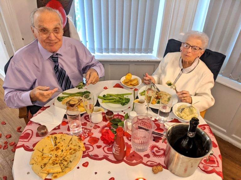 Derek and Phyllis enjoying their date night