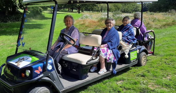 Residents on the safari truck | Care Home Providers Guidance