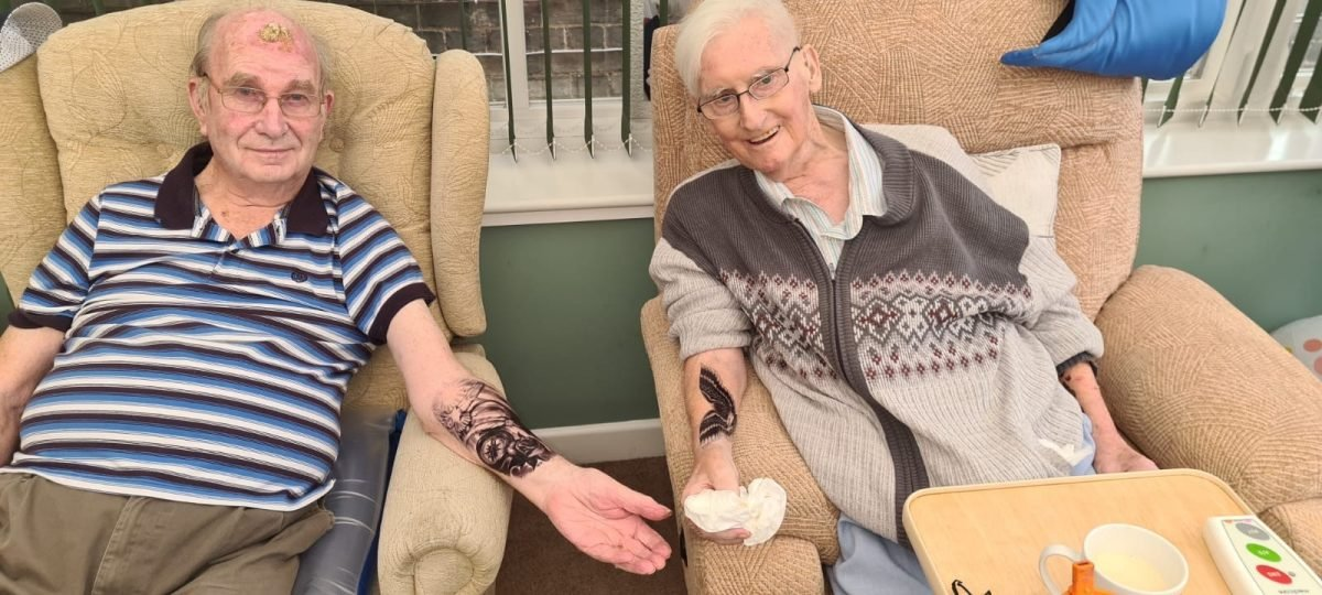 Care home becomes pop-up tattoo studio for a day