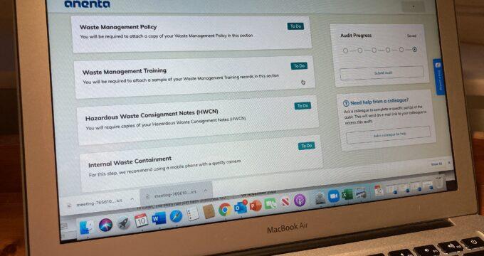 Anenta audit app sample | Care Home Advice