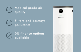 air purifier advert | Care Home Professional Magazine