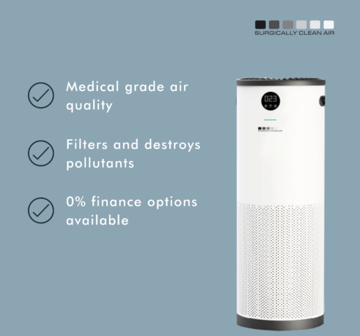 Medical grade Jade air Purifier now available to care homes