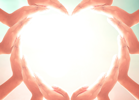 pairs of hands forming a heart shape   Nursing Home News
