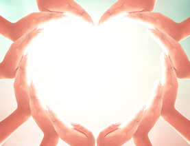 pairs of hands forming a heart shape | Nursing Home News
