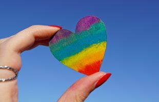 rainbow coloured heart | Care Home Advice