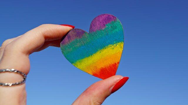 rainbow coloured heart   Care Home Advice