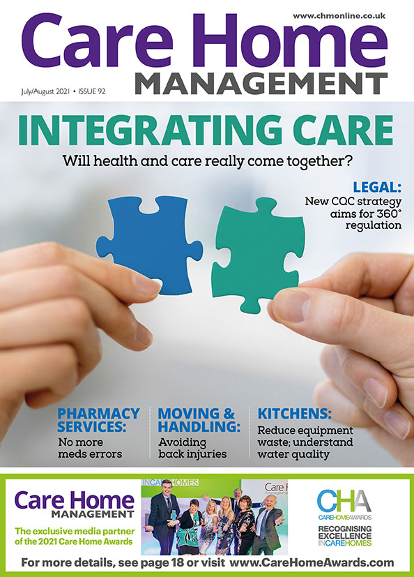The July/August 2021 issue of Care Home Management magazine cover | Care Home Professional News