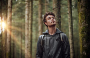 Man in woods | Care Home Providers Guidance