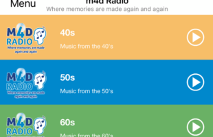 m4d Radio app home page | Health Care Supplier Advertising