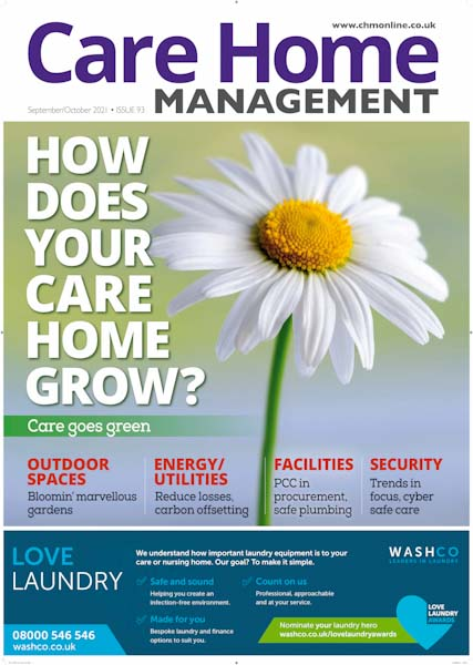 The Sept/Oct 2021 issue of Care Home Management magazine | Care Home News