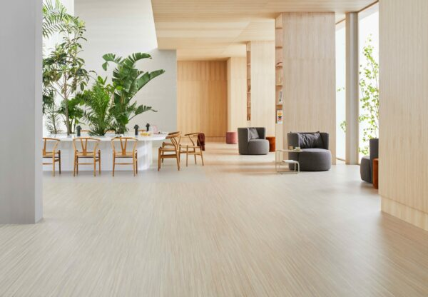 Make places into homely spaces with Marmoleum Linear from Forbo